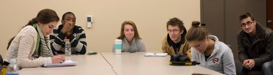 Students sitting around a table at Western Kentucky University