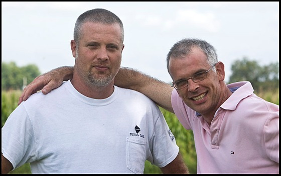 Rob Carwile, left, with older brother Joe