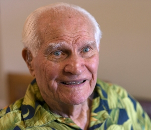 Junction City, Oregon-July 4, 2014. Bobby Doerr, 96,